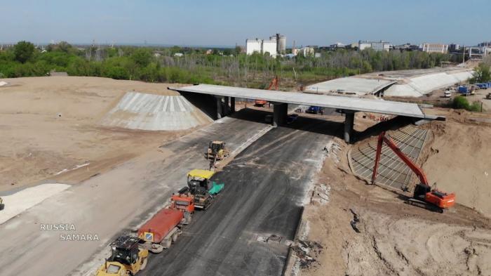 Ход строительства Фрунзенского моста в Самаре, май 2019 года