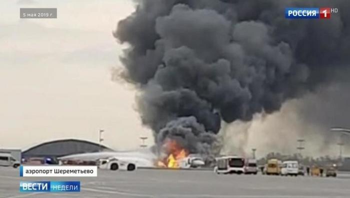 Гибель людей в Шереметьеве: от сгоревшего SSJ-100 остался только нос
