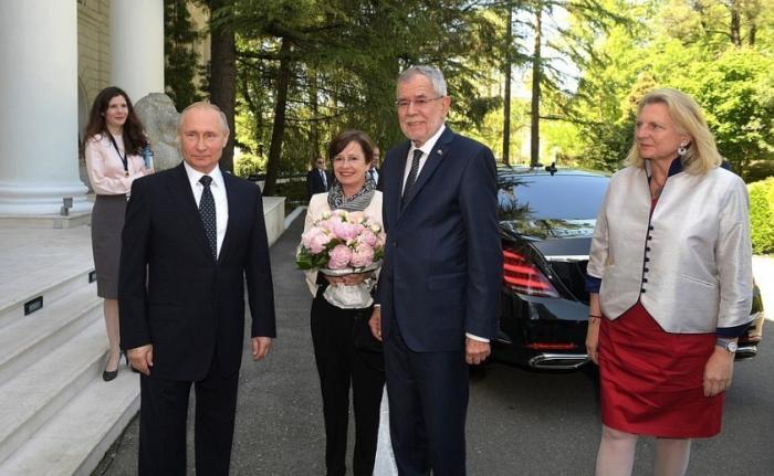 Владимир Путин провёл переговоры сФедеральным президентом Австрии Александром ван дер Белленом