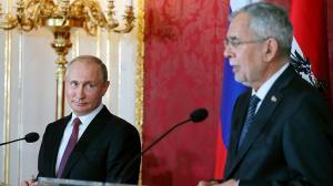 Владимир Путин и Александр Ван дер Беллен выступили перед участниками форума «Сочинский диалог»
