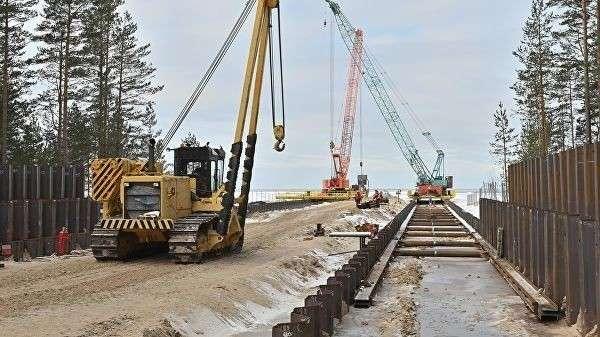 Строительство газопровода Nord Stream-2 на территории России