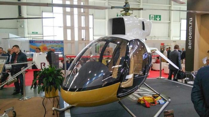 НаHelirussia-2019 представили сверхлегкий вертолет R-34