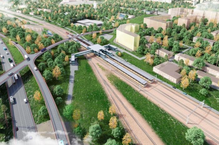 Москва. Началось строительство новой железнодорожной линии около Москвы-Сити