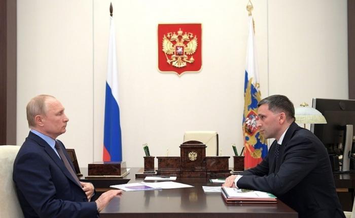 Владимир Путин провёл рабочую встречу сминистром природных ресурсов иэкологии Дмитрием Кобылкиным