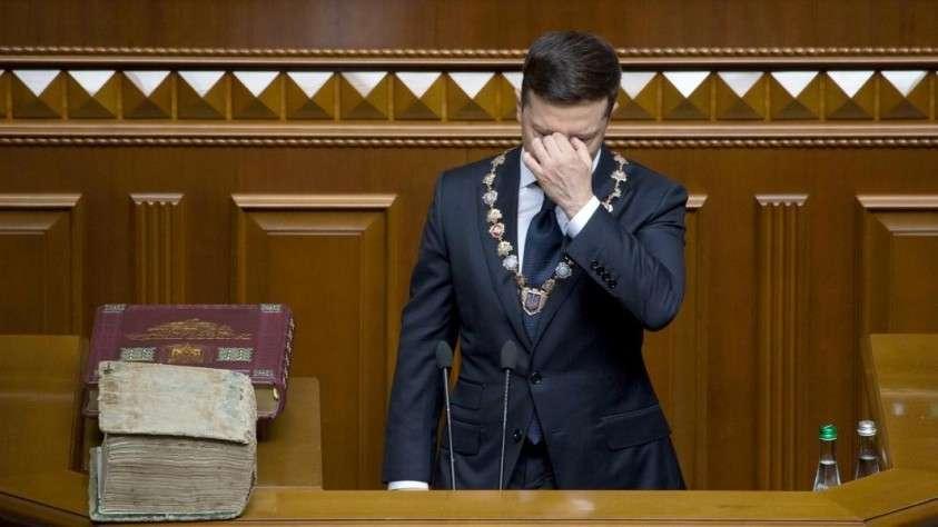 Владимир Зеленский во время инаугурации