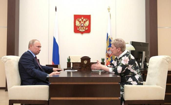Ольга Васильева и Владимир Путин обсудили итоги 2018–2019 учебного года