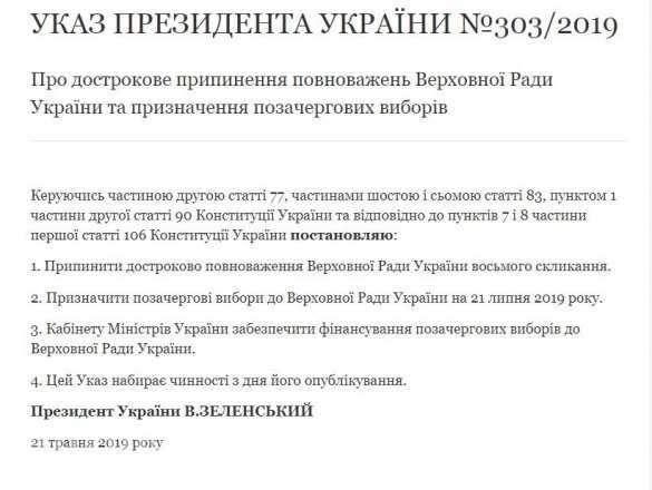 Зеленский назначил дату внеочередных выборов в Верховную Раду  | Русская весна