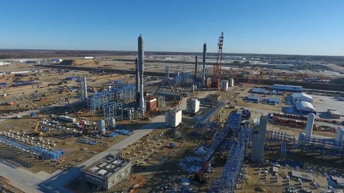 Ход строительства Амурского газоперерабатывающего завода