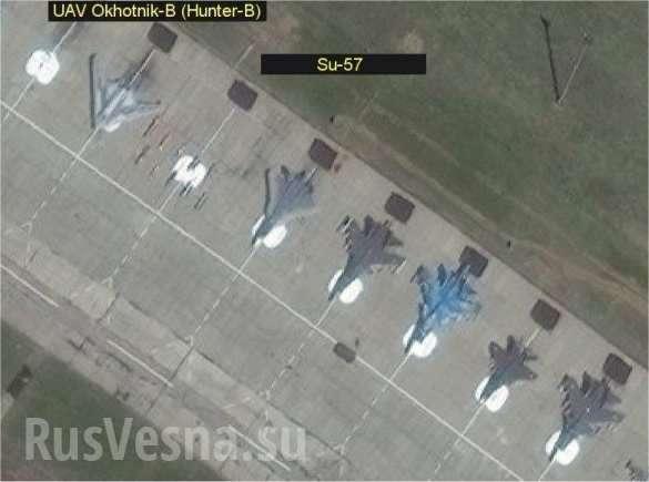 Устрашающий «Охотник» на фоне Су-57: появился снимок нового российского ударного беспилотника (ФОТО) | Русская весна