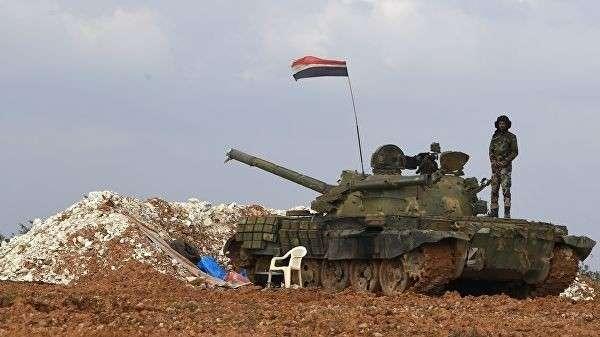 Военнослужащие сирийской армии на передовых позициях