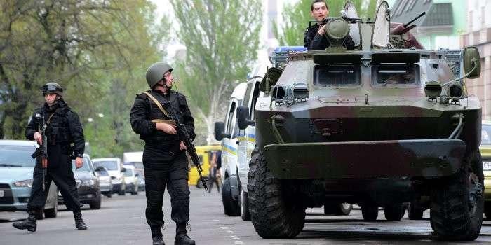 В Киеве захвачены представительства российских телеканалов