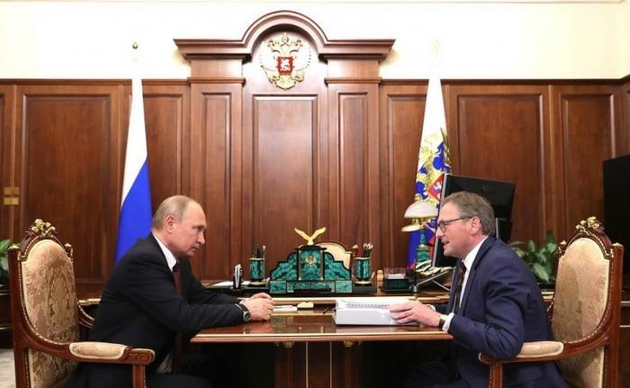 Встреча Владимира Путина с Уполномоченным по защите прав предпринимателей Борисом Титовым