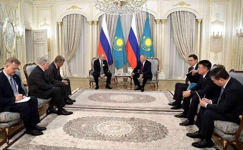 Встреча с первым Президентом Казахстана Нурсултаном Назарбаевым.