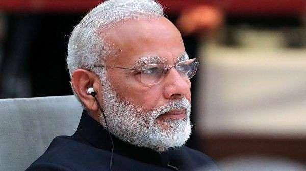 Премьер-министр Индии Нарендра Моди на встрече лидеров стран БРИКС в преддверии саммита Группы двадцати G20 в Гамбурге. 7 июля 2017