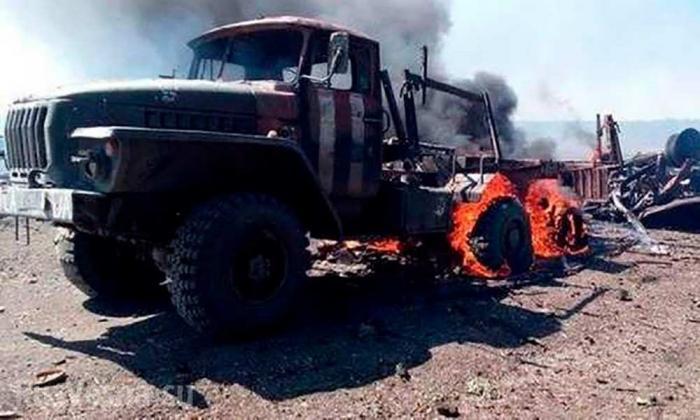 Ракета «третьей силы» уничтожила «Урал» ВСУ на Донбассе