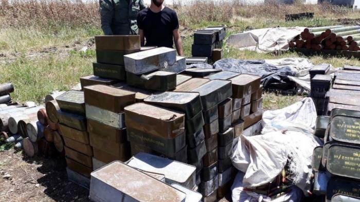 Сирия. Вскрыты схроны боевиков с оружием, произведенным в Израиле и США