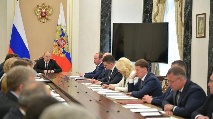 Владимир Путин провёл очередное совещание с членами Правительства 04.06.2019