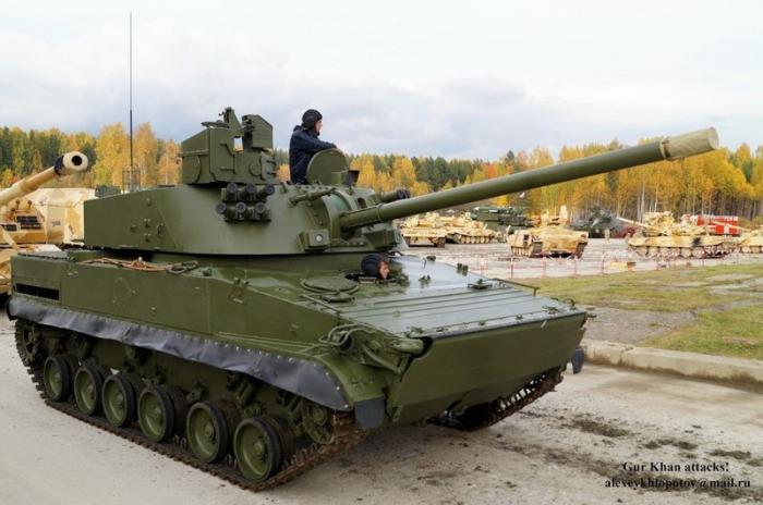 Ростех впервые показал новейшее самоходное орудие для ВДВ «Лотос» вдействии