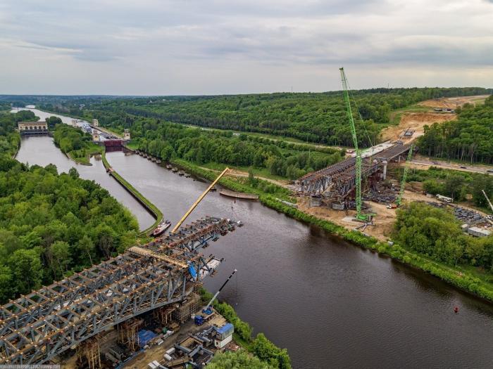 Строительство моста ЦКАД через канал имени Москвы. Последние новости
