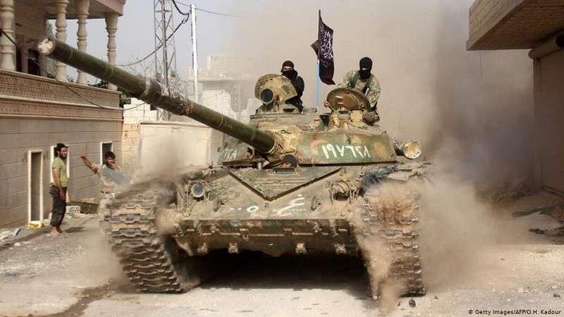 Сирия. Мощным наступлением боевики прорвали фронт правительственной армии