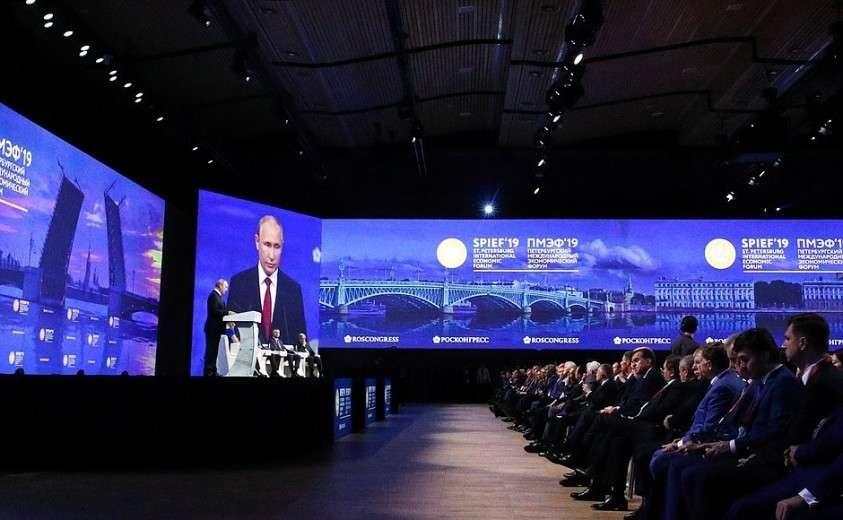Выступление на пленарном заседании Петербургского международного экономического форума.