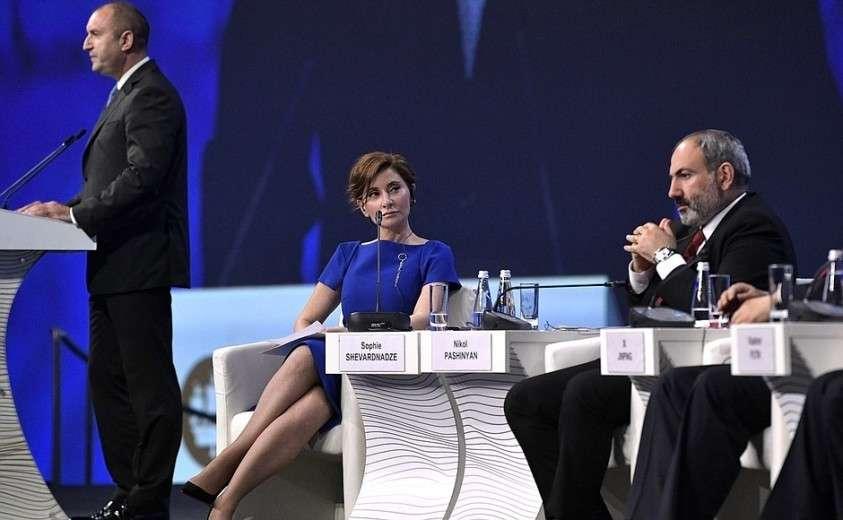 На пленарном заседании Петербургского международного экономического форума.