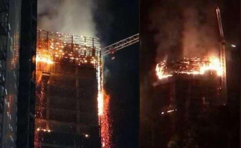 В центре Варшавы полыхнул небоскрёб: очевидцы делятся кадрами огненного дождя (ФОТО, ВИДЕО)