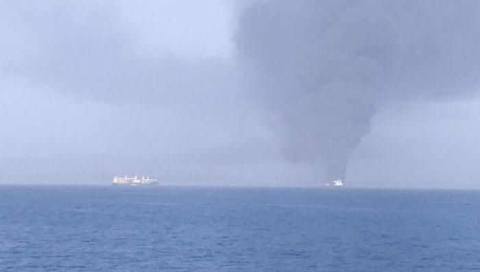 Один из атакованных танкеров затонул в Оманском Заливе