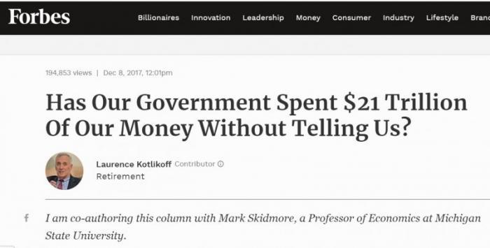 Это в России коррупция? Вы на Пентагон посмотрите, в котором «потеряли» $6.5 триллионов
