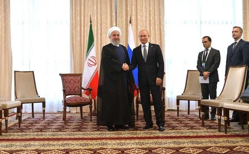 С Президентом Исламской Республики Иран Хасаном Рухани.