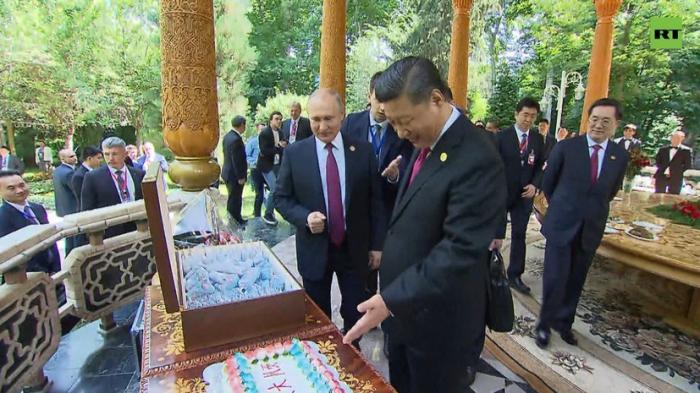 Владимир Путин подарил Си Цзиньпину на день рождения «Солнечный день» с тортом и мороженым