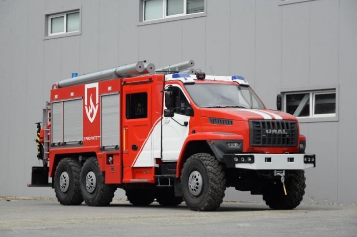 Автозавод «Урал» представил новые модели спецтехники для МЧС набазе шасси «Урал NEXT»