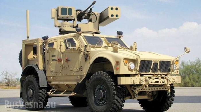 Йемен. Пулемёт времён ВОВ поджёг новый броневик США