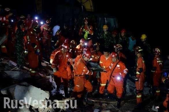 Мощное землетрясение в Китае: значительные разрушения, есть погибшие