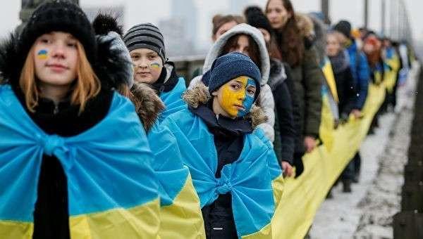 Празднование Дня Единства Украины в Киеве. 22 января 2018