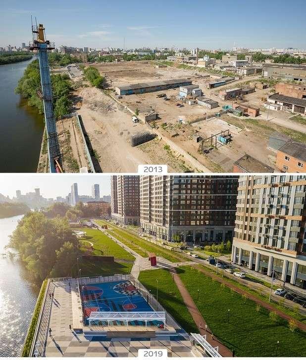 Шелепихинская набережная в Москве: было-стало