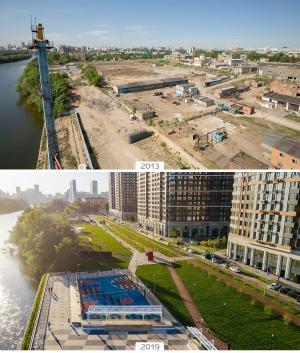 Шелепихинская набережная вМоскве: было-стало
