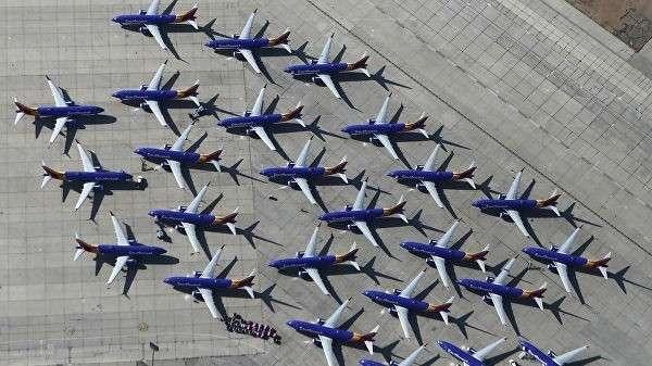 Самолеты Boeing 737 MAX авиакомпании Southwest Airlines в аэропорту Южной Калифорнии