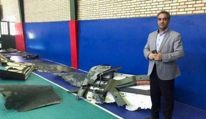 Иранские военные показали сбитый американский беспилотник Global Hawk