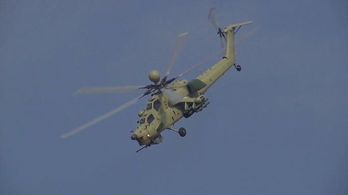 Российским вертолёт Ми-28 «Ночной охотник» показал новую фигуру высшего пилотажа