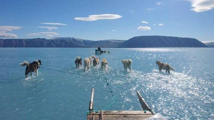 Льды Гренландии тают предвещая США и Европе конец света