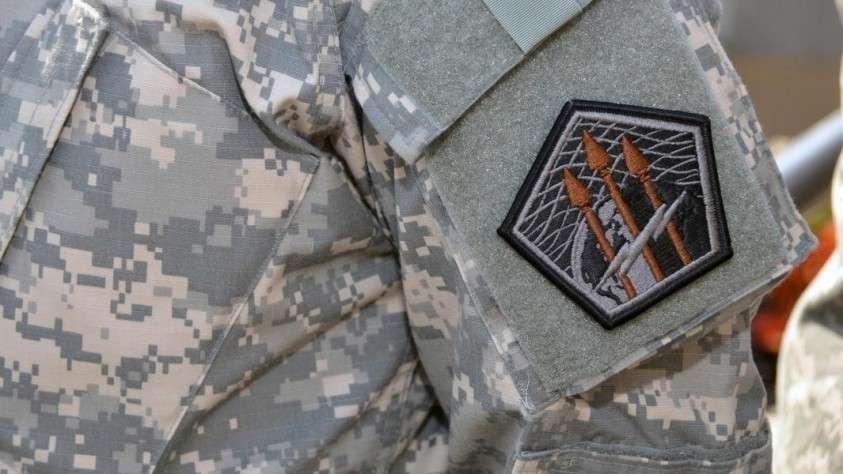 Шеврон солдата кибернетического командования армии США