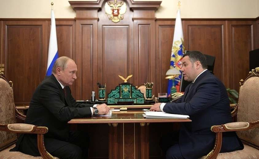 С губернатором Тверской области Игорем Руденей.