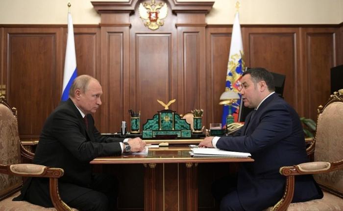 Встреча Президента с губернатором Тверской области Игорем Руденей
