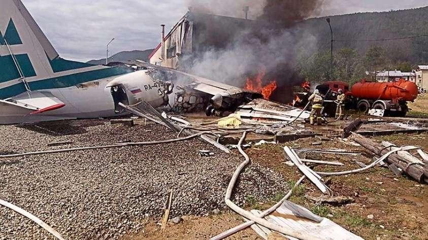 Катастрофа Ан-24 в Бурятии. Пассажир снял на видео момент аварийной посадки
