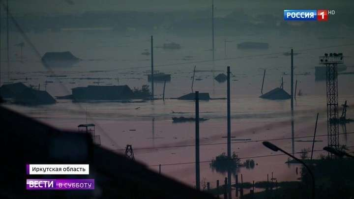 Из-за паводка жители Иркутской области больше суток просидели на крышах своих домов своих домов