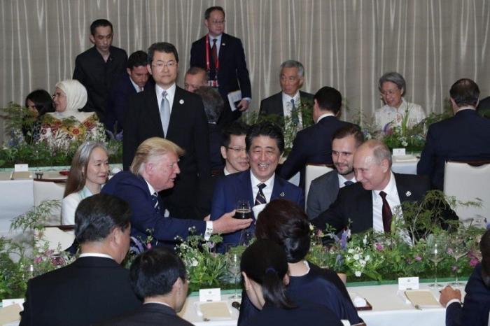G20: Путин и Абэ договариваются о сближении, а Трамп им мешает