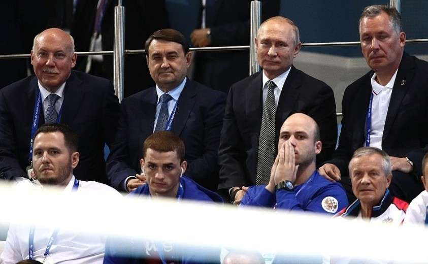 Посещение соревнований по боксу в рамках Вторых Европейских игр.