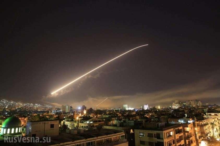 По Сирии нанесён мощный ракетный удар, гремят сильные взрывы