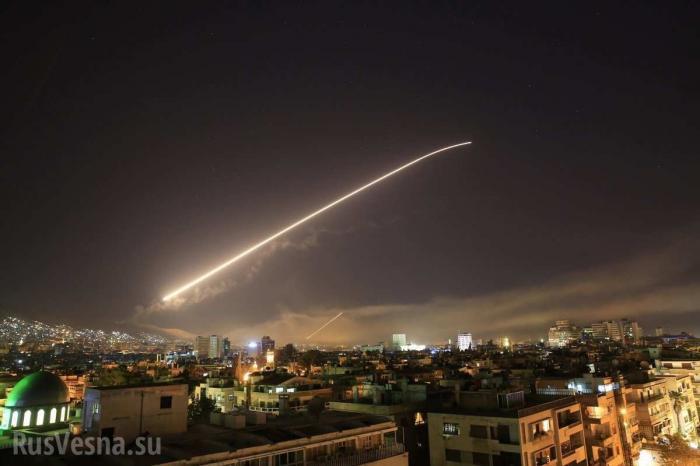 ПоСирии нанесён мощный ракетный удар, гремят сильные взрывы